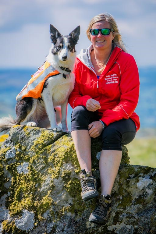 Coniston MRT Christyne Judge With Search Dog Bute
